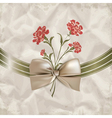 Vintage carnations background vector image vector image