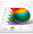 3d business circle ball diagram vector image