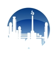Industry and fuel refinery icon vector image vector image