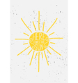 hand drawn sun typographic design vector image vector image
