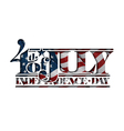 4th of July Cut Out Independance Day vector image vector image