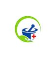 herbal medicine traditional logo vector image