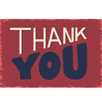 thank you phrase on grunge background vector image