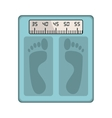 bathroom scale icon vector image