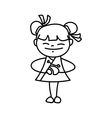 girl smile and greeting for Happy Chinese Year vector image