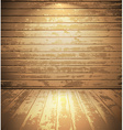 Light wooden room vector image