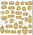 modern sale stickers collection 7 vector image