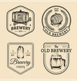 old brewery logos set kraft beer retro signs or vector image