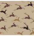 pattern deer run vector image