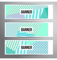 Striped pattern banners vector image