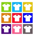 T-shirt sign icon Clothes symbol Round colourful vector image