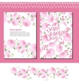 Wedding and Valentine s floral templates with pink vector image