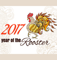 Drawing of the bird The symbol of the chinese new vector image