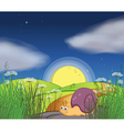 A snail along the road vector image