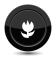 Button with flower vector image