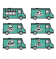 food truck icon designs vector image