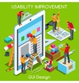 GUI design 03 People Isometric vector image