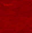 Creased red paper seamless texture vector image
