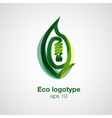 Eco logotype Bulb in leaf concept vector image