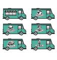 food truck icon designs vector image