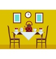 Kitchen kitchen table with vector image