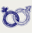 Male and female sex symbol vector image
