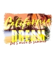 Tropical beach summer print with slogan vector image