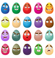 Happy easter smiling eggs vector image vector image