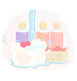 Pretty shower gel set vector image vector image