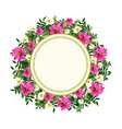 hand drawn graphic flower frame vector image