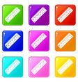 sponge for cleaning icons 9 set vector image