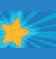 background yellow star pop art vector image