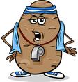 couch potato saying humor cartoon vector image