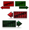 Import and export vector image vector image