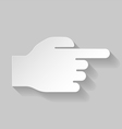 Hand pointing to the right vector image