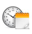 Calendar and clock vector image vector image