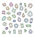 Hand drawn gemstones abstraction vector image vector image