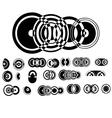ADB Circle Elements 1 vector image vector image