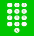 Phone Keypad for Touchscreens vector image vector image