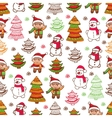 christmas pattern 1 vector image vector image