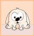 cute puppy character vector image vector image