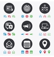 Communication icons News chat messages signs vector image