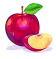 Apple hand drawn on a white background vector image