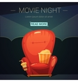 Movie Night Cartoon vector image