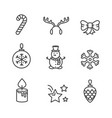 cute black and white icons vector image