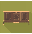 Digital vintage green cabinet furniture vector image
