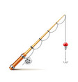 Fishing rod isolated on white vector image