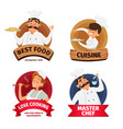 logo or labels set for restaurant characters of vector image