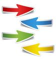 peeling arrow stickers vector image