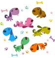 Cartoon Dogs Collection vector image vector image